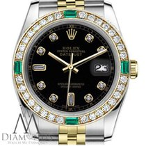 Rolex Womens Rolex 26mm Datejust 2tone Black Color Dial W/ 8+2...