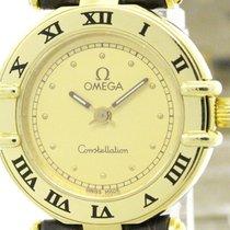 オメガ (Omega) Polished Omega Constellation 18k Gold Quartz...