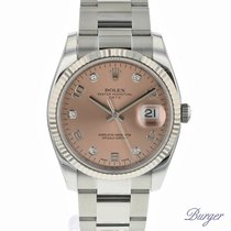 Rolex Oyster Perpetual Date 34 Fluted Pink Diamonds