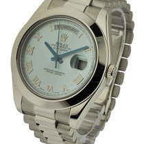 Rolex Used 218206 Day Date President II in Platinum - Polished...