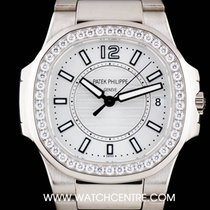 Patek Philippe 18k White Gold Silver Dial Nautilus Ladies...
