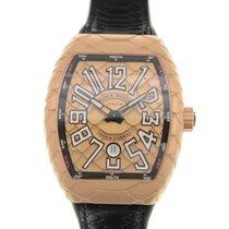 Franck Muller Vanguard 18k Rose Gold Gold Automatic V 45 Sc Dt...