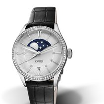Oris CULTURA ARTELIER GRANDE LUNE DATE DIAMONDS Black Leather