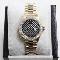 Rolex President Datejust Ladies 69138 Black Original Diamond...