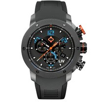 Liv Watches LIV GX1 Swiss Chronograph Black & Blue Numbers...