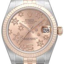 Rolex Datejust 31 Edelstahl Roségold Everose Jubilé Pink Floral