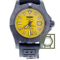 Breitling Avenger II Seawolf  blacksteel Yellow Dial  Rubber...