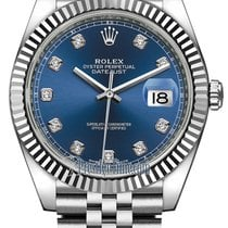 Rolex Datejust 41mm Stainless Steel 126334 Blue Diamond Jubilee