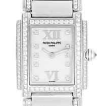 Patek Philippe Twenty-4 Ladies White Gold Diamond Watch 4908 310G
