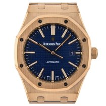 Audemars Piguet Royal Oak Rose Gold 41mm Blue Dial