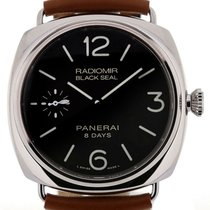 Panerai PAM00609 Luminor Black Seal 8 Days Acciaio Men's...