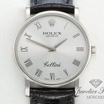 Rolex Cellini 5115 Weissgold 750 Leder Handaufzug