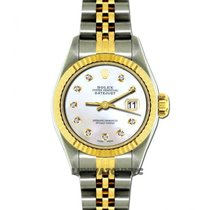 Rolex Datejust Ladies 26mm White Mother Of Pearl Dial Gold And...