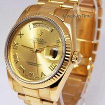 Rolex Mens Day-Date President 18k Yellow Gold Roman Dial Watch...