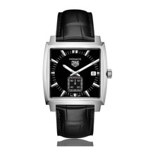 TAG Heuer Monaco Quartz Stainless Steel Black Dial Ladies...