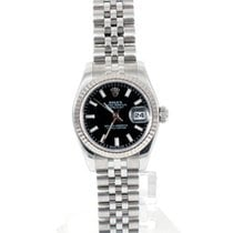 "Rolex Ladies ""New Style"" Datejust - Black Dial - 179174"