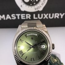 Rolex 228239 DayDate 40 Green Roman Dial Anniversary White Gold