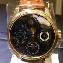 IWC PORTUGUESE PERPETUAL CALENDAR  ROSE GOLD BLACK DIAL FULL SET