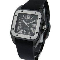 Cartier W2020008 Santos 100 32mm in Steel - Black PVD Steel on...