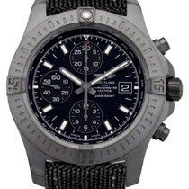 Breitling Colt Chronograph 44 Black Fabric Band Auto Watch...