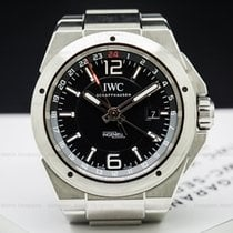 IWC IW324402 IW324402 Ingenieur Dual Time Black Dial SS (26255)