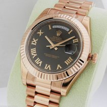 Rolex 218235 Day Date II Rose Brown Roman Dial President