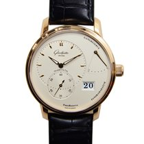 Glashütte Original Pano Reserve 18k Rose Gold Silver Manual...