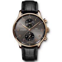 IWC Portuguese Chronograph Red Gold Black Dial 40mm