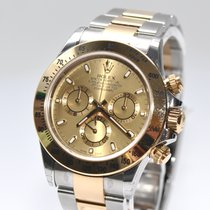 Rolex Daytona Ref.116523 Stahl Gold  Papiere Box NEU