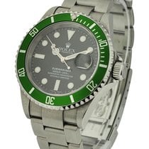 Rolex Used 16610V_used Green Submariner with Date 16610V -...