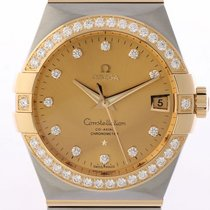 Omega Constellation Co-Axial Chronometer Stahl/Gelbgold...