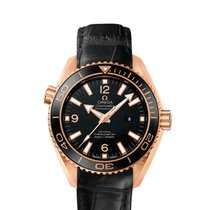 Omega Planet Ocean 600M Co-Axial 37,5mm Black Dial Red Gold