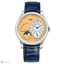 F.P.Journe Octa Lune Platinum Leather Sapphire Men`s Watch