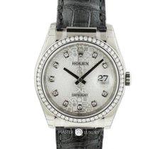 Rolex 116189 Datejust Jubilee Diamond Dial Diamond Bezel WG