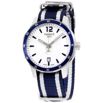 Tissot Quickster Silver Dial Ss Blue Textile Woman's Watch...