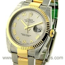 Rolex Unworn 116233 Mens 2-Tone Datejust with Oyster Bracelet...