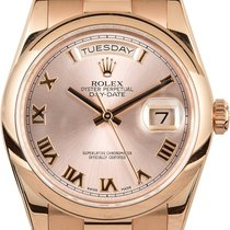 Rolex Day-Date President 18K Solid Rose Gold Automatic