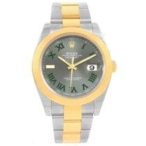 Rolex Datejust 41 Steel 18k Yellow Gold White Dial Watch...