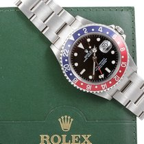 "Rolex Mens SS GMT-Master II - Black Dial / ""Pepsi""..."