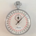 Minerva Stopwatch vintage stop watch red