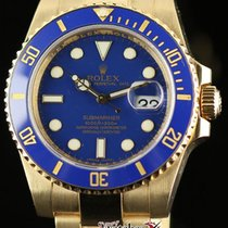 Rolex Submariner 116618 40mm Gold Automatic Blue 2008 Box/pape...