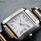 Cartier Men's Tank Francaise Steel & Gold Automatic Watch