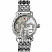Michele CSX 36 Grand Carousel White Dial Stainless Steel...