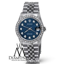 Rolex 79160 Datejust 26mm Blue Logo Jubilee Bracelet Diamond...