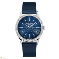 Patek Philippe Calatrava Blue Dial White Gold and Diamonds...