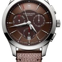 Victorinox Swiss Army ALLIANCE CHRONOGRAPH 44mm Leather Brown...