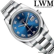 Rolex Datejust 116200 blue roman dial Full Set NOS NEW 2017