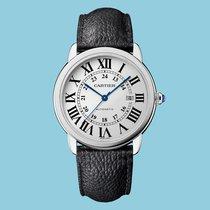 Cartier Ronde Solo extragroßes Modell Automatik, Lederband -NEU-