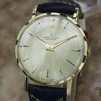 Breitling 4503 Solid 18k Gold Swiss Made 1960s Men's 34mm...