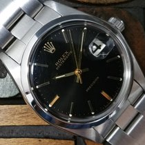 Rolex Oysterdate Precision Glossy Black Dial